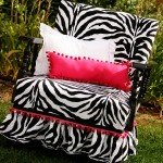 Upholstered Zebra Chair