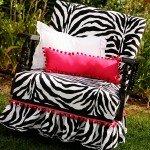 Upholstered Zebra Chair