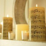 Vintage Sheet Music Candles