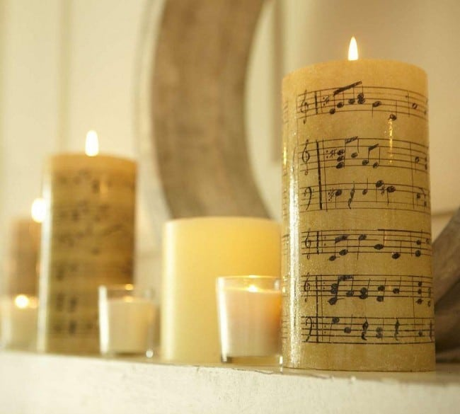 Vintage Sheet Music Candles Knockoffdecor Com