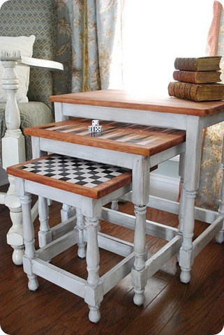Game Board Nesting Tables