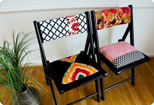 Anthropologie style Terai folding chairs
