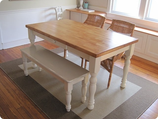 Pdf diy kitchen table bench design download kitchen cabinets plans diy furnitureplans - Kitchen bench designs ...