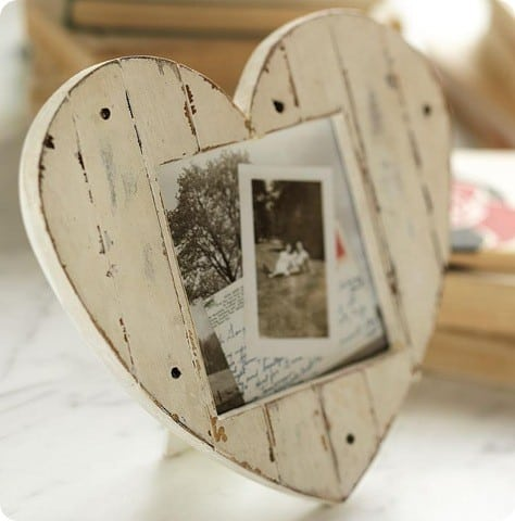 pottery barn heart frame