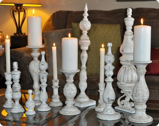 Distressed Wood Finials