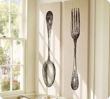 fork&spoonstretchedcanvas