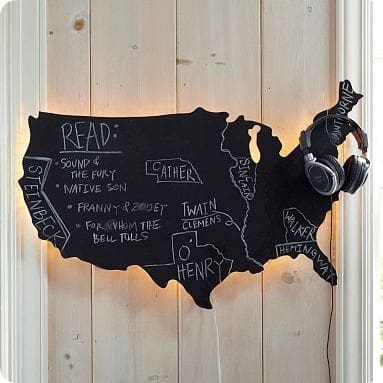map wall light