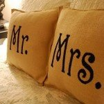 Best of Knock Off Decor #3: Mr. & Mrs. Burlap Pillow