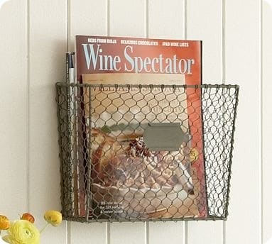 Wire Mesh Wall Mount Magazine Rack