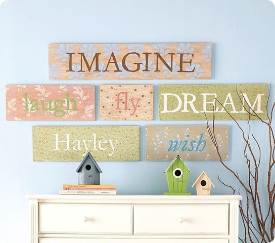 word plaques