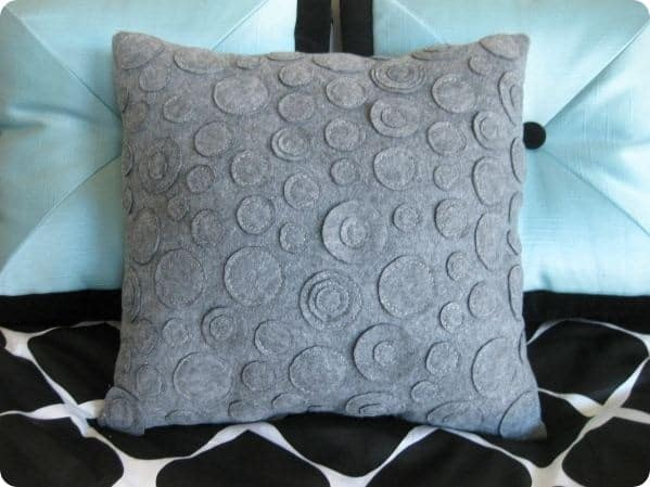 Gray Felt Circle Pillow Knockoffdecor Com
