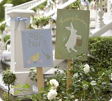 Pottery Barn Kids Easter Yard Stakes