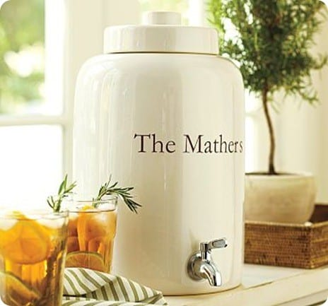 Ceramic Monogrammable Drink Dispenser