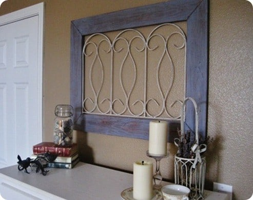 Distressed Gate Wall Decor