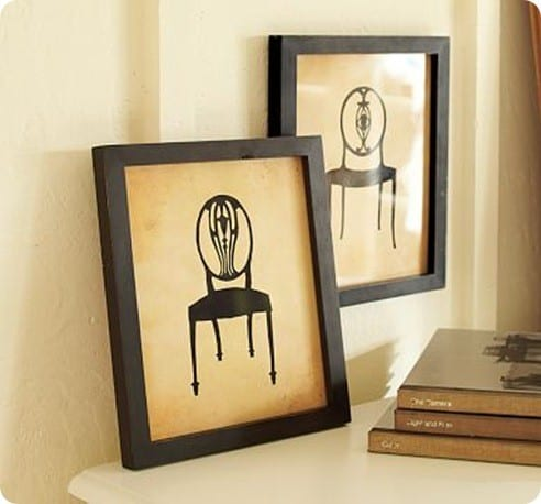 Framed Vintage Chair Prints