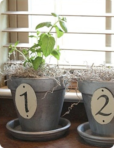 Numbered Planters