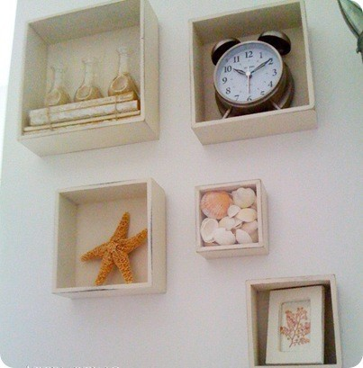 Shabby Chic Beach Bathroom Wall Art Collage 2