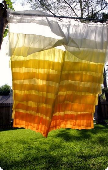 Sunshine Ruffle Shower Curtain