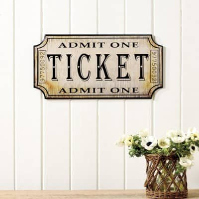 Vintage Ticket Plaque