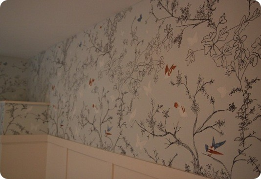 Bird and Butterfly Bathroom Wall