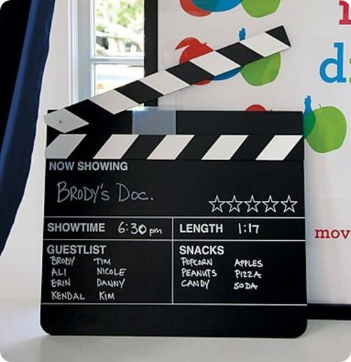 Chalkboard Movie Sign