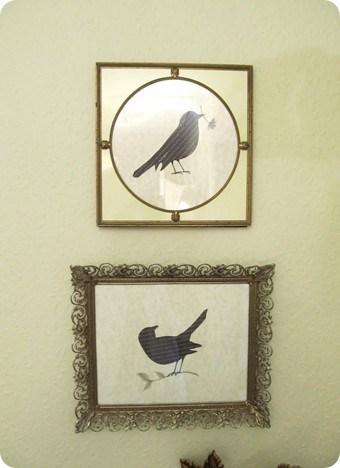 Framed Bird Silhouettes