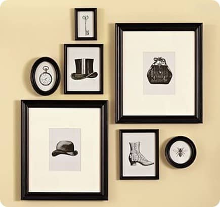 Framed Vintage Blank and White Prints