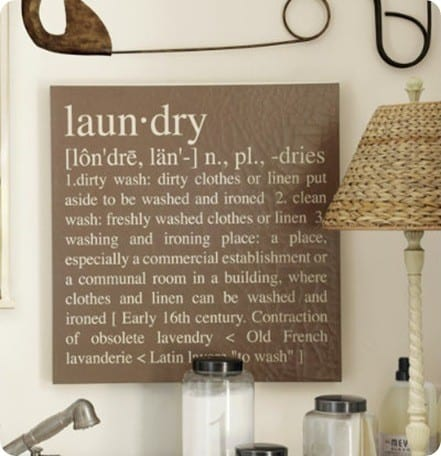 Laundry Definition Wall Sign