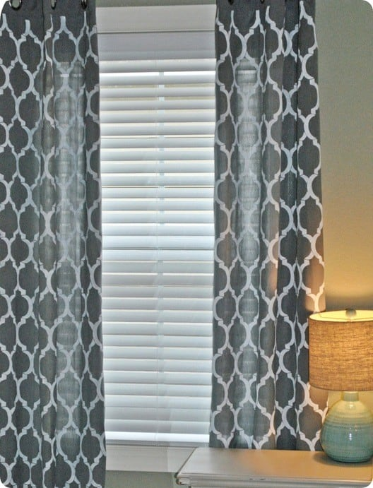 Modern Stenciled Curtains