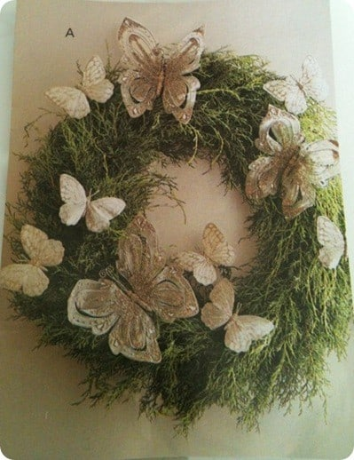 PB Moss and Butterfly Wreath