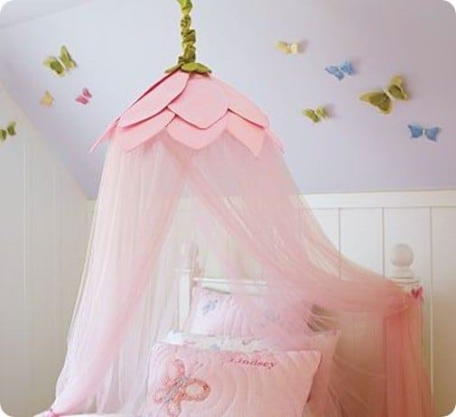 Tulle Rose Petal Canopy Knockoffdecor Com