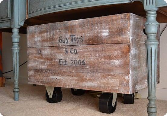 Rollaway Toy Storage Bin