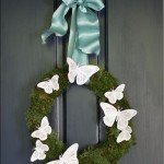 Butterfly and Moss Spring Wreath