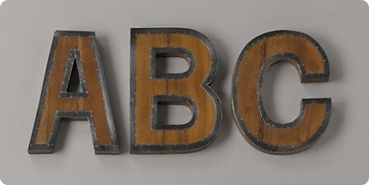 Wall Decor Metal Numbers : Wood and metal wall letters renovations haven home