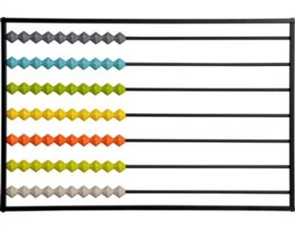 Colorful Abacus Wall D 233 Cor Knockoffdecor Com