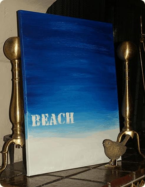 Beach Painting DIY
