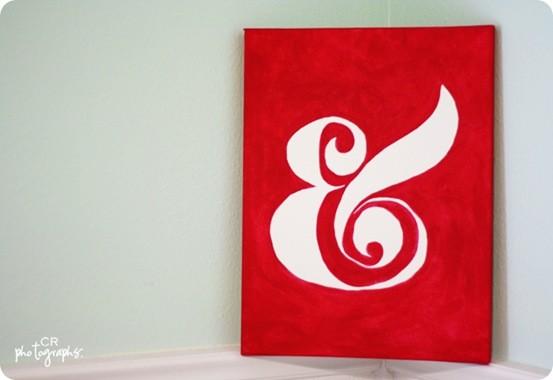 DIY Ampersand Wall Canvas