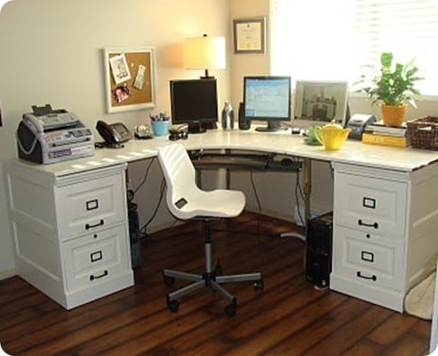 Nicole S Original Inspiration Was The Bedford Corner Desk Set From Pottery Barn