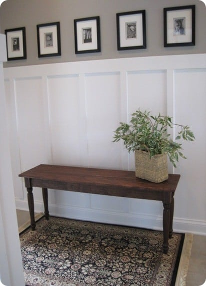 Stained Entryway Bench