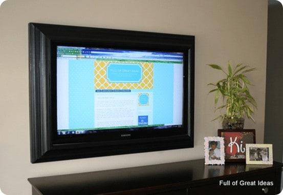 DIY Flat Screen Frame
