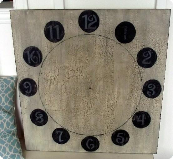 DIY Large Clock Face