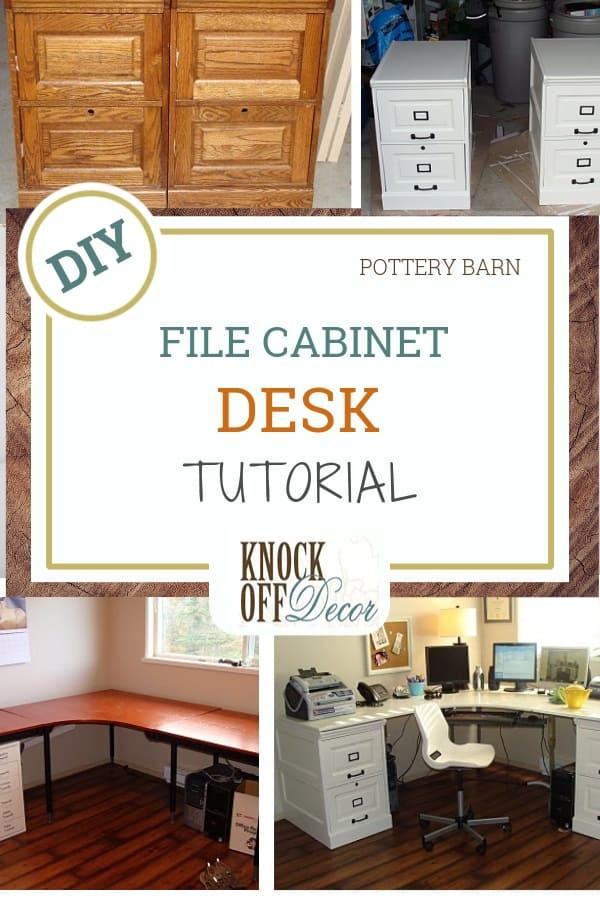 Large Corner Desk With File Cabinets Knockoffdecor Com