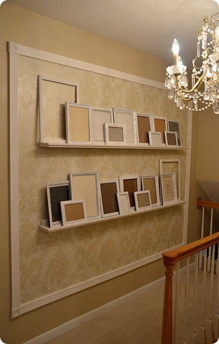 Gallery Wall With Photo Ledges