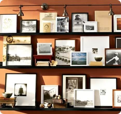 Gallery Wall With Photo Ledges Knockoffdecor Com