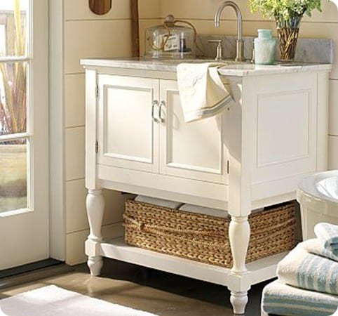 Newport Single Sink Console - White