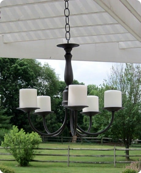 Outdoor Candle Chandlier