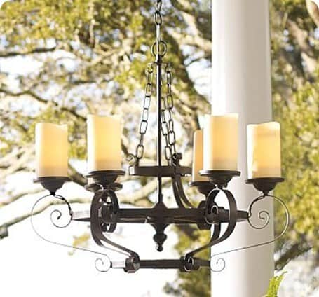 Oil Rubbed Bronze Outdoor Candle Chandelier
