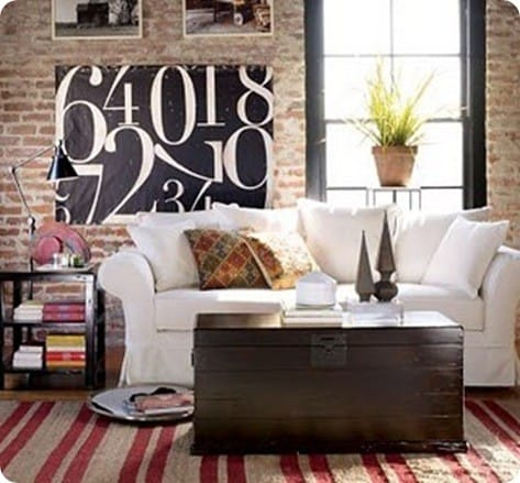 Pottery Barn Numbers on Black Canvas
