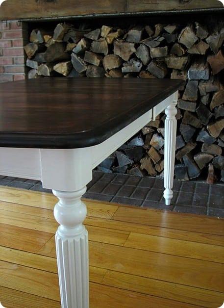 Refinished Mahogany Farmhouse Table