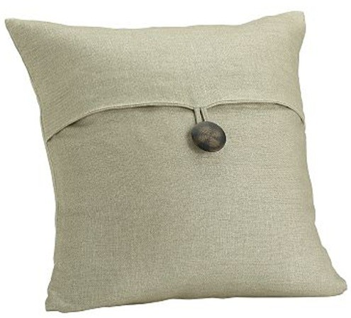 Throw Pillow Button Closure : Vintage Button Closure Pillow Cover